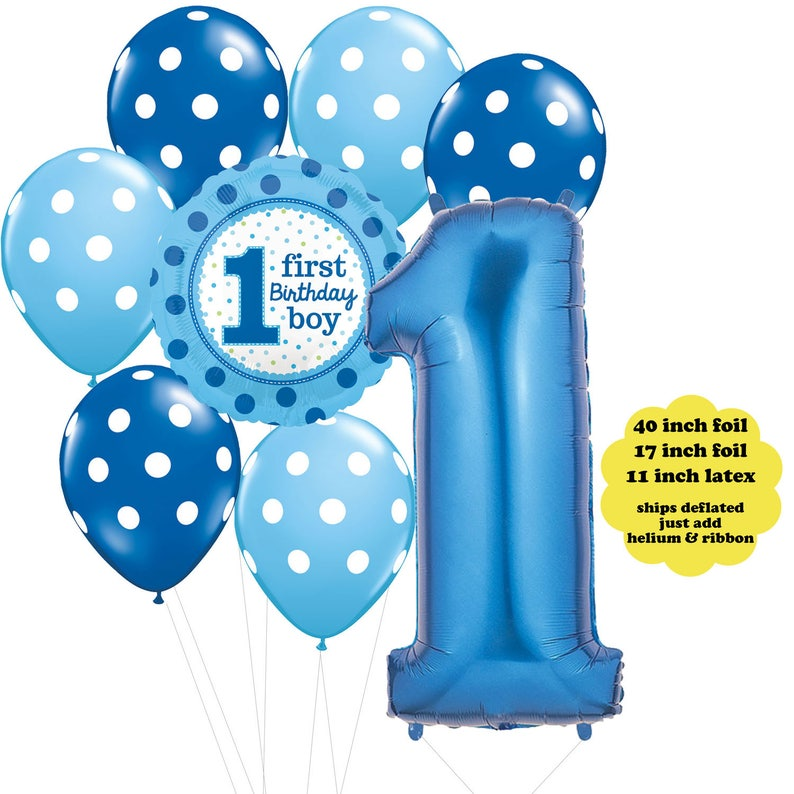 Boys First Birthday Party Decorations Boy Balloon Bouquet