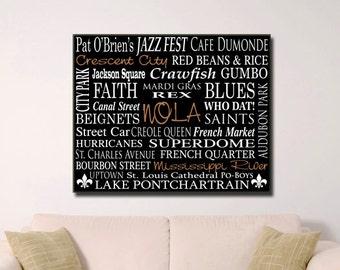 NOLA Word Art  - Saints - New Orleans - NOLA Gifts