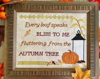 Physical Paper Pattern: Bliss To Me Cross Stitch Pattern