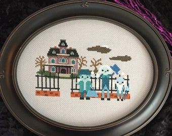 Haunted Manor Cross Stitch PDF Instant Download- Ride Inspired Parody