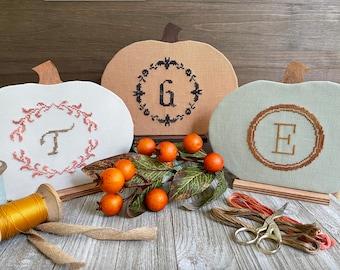 Physical Paper Pattern: Fall Monograms Cross Stitch Pattern