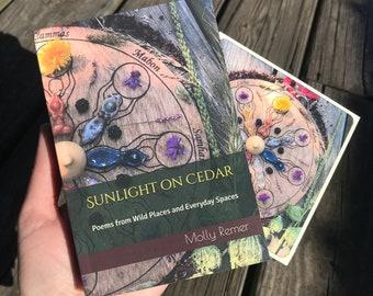 Sunlight on Cedar poetry book (ritual, earth-based, goddess, thealogy, sacred living, priestess, devotion, prayer, blessings)