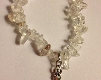 Amplification Goddess Power Bracelet. Clear quartz (priestess, ritual, ceremony, sacred space)