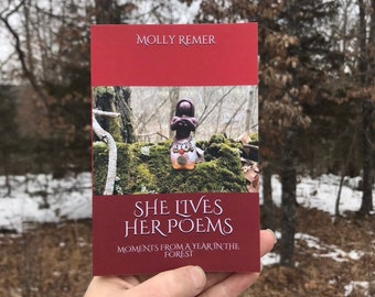 She Lives Her Poems Poetry Book, pocket edition (ritual, earth-based, goddess, thealogy, ecofeminism, nature)