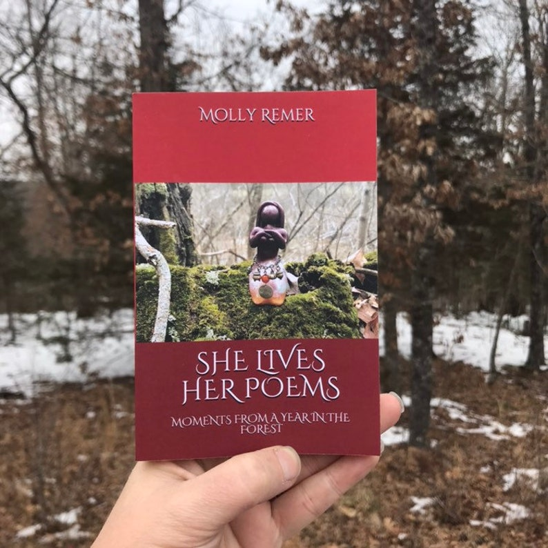 She Lives Her Poems Poetry Book pocket edition ritual image 0