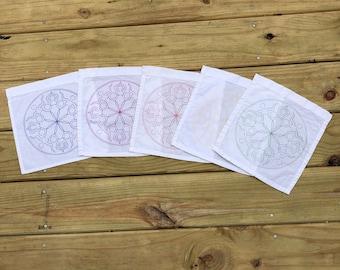 Wheel of the Year Mandala Goddess Grid or Altar Cloth or Prayer Flag -  (crystal grid, wiccan, pagan, altar, shrine, divine, goddess)