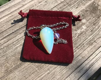 Opalite Pendulum (priestess, goddess, healer, inner wisdom, divination)