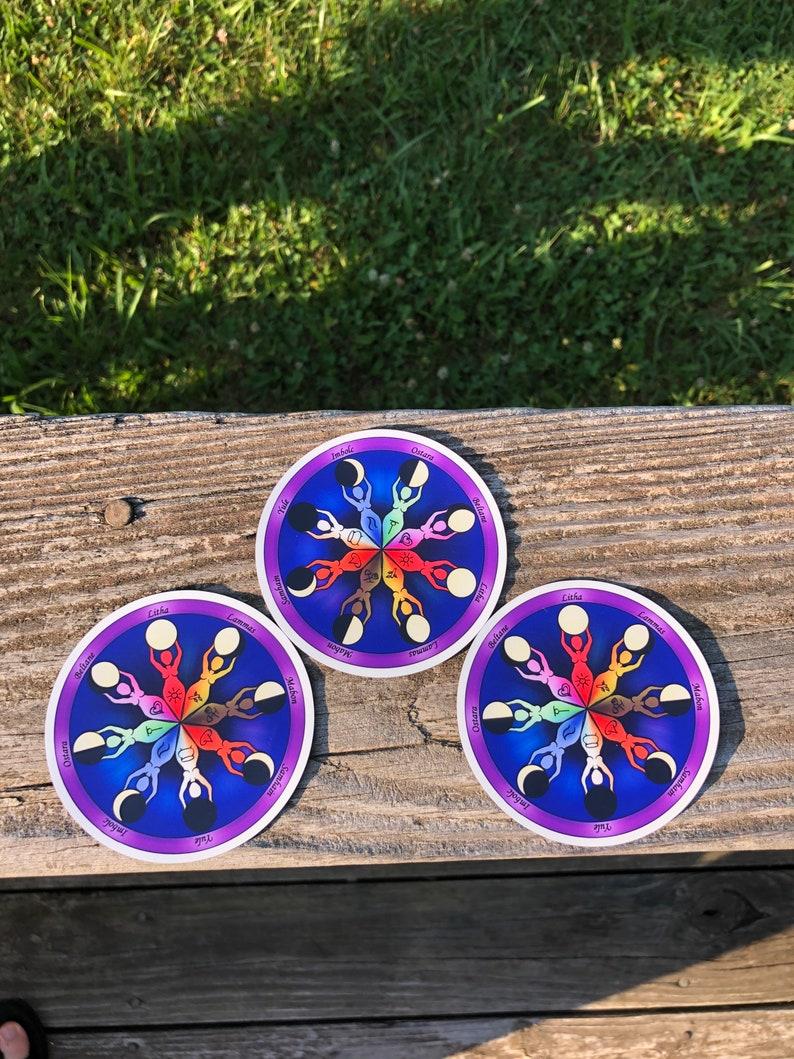 Magnet  Wheel of the Year Goddess Mandala  goddess Celtic image 0