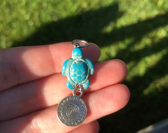 Turtle Pendant charm (mother blessing, women's circle, altar, blessingway, turtle earth, fertility)