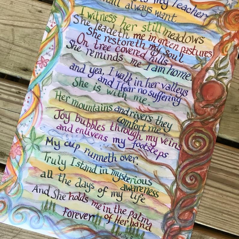 SALE: Earthprayer Poster earth-based poem prayer image 0