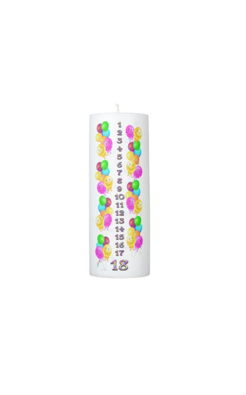 Birthday Countdown Candle 1 18 Years 8 Inches Tall