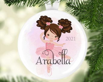 Ballet Dancer Ornament - Christmas Ornament - Personalized Ornament - 2021 Ornaments - Holiday Ornament - Stocking Stuffer - Pink Ballerina