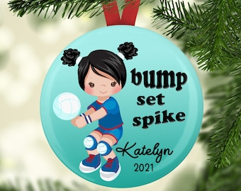 Personalized Volleyball Ornament - Christmas Tree Ornament - 2021 Ornaments - Holiday Ornament - Christmas Tree Decoration - Sports Ornament