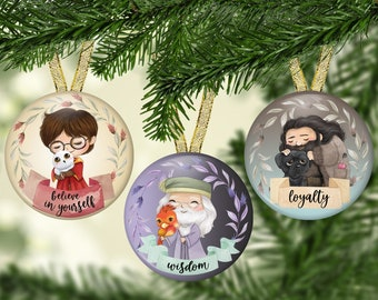 Wizard Ornament - Christmas Ornaments - 2021 Ornaments - Holiday Ornaments - Harry Potter Fan Gifts - HP Wizard Ornament - Best Friends Gift