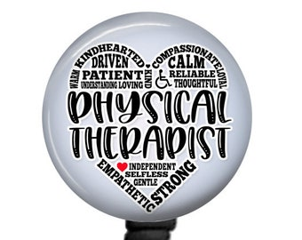 DPT Retractable Badge - Physical Therapists Gift - Physiotherapy Doctor - OT Badge Reel - Medical Badge Reel - Physical Therapist Badge Reel