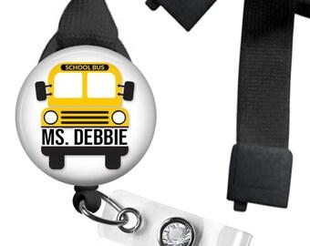Bus Driver Lanyard Personalized - Bus Driver Badge Holder - Breakaway Lanyard - School Bus Driver Gift - School Bus - Cute Gifts