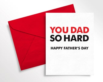 Printable Father's Day Card | Card for Him | Funny Love Note to Dad | Card for Dad | Digital Download