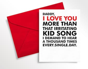 Printable Father's Day Card | Baby Card to Daddy | Funny Love Note for Dad from Child | Dad Birthday | Digital Download