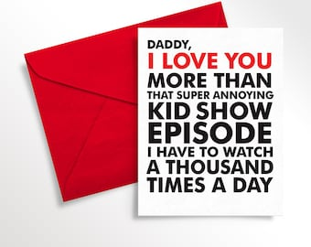 Printable Father's Day Card | Kid Card for Daddy | Funny Love Note for Dad from Toddler | Digital Download