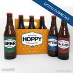 Printable Father's Day Beer Labels— Bottle Labels + Carrier Art + Bottle Cap Art (Instant Download)