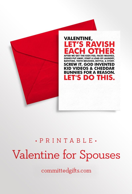Printable Valentine for Husband  Printable Valentine for Wife image 0
