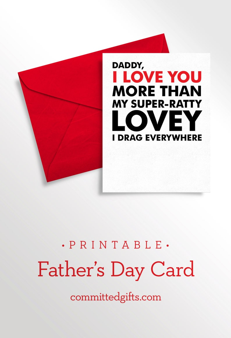 Printable Father's Day Card  Birthday from Child to Daddy image 0