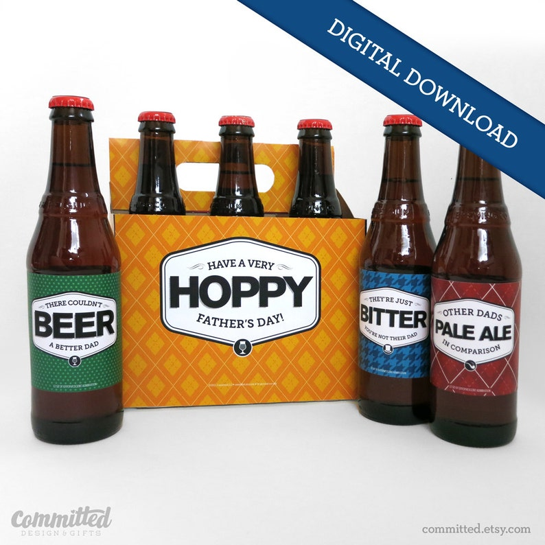 Printable Father's Day Beer Labels Bottle Labels  image 0
