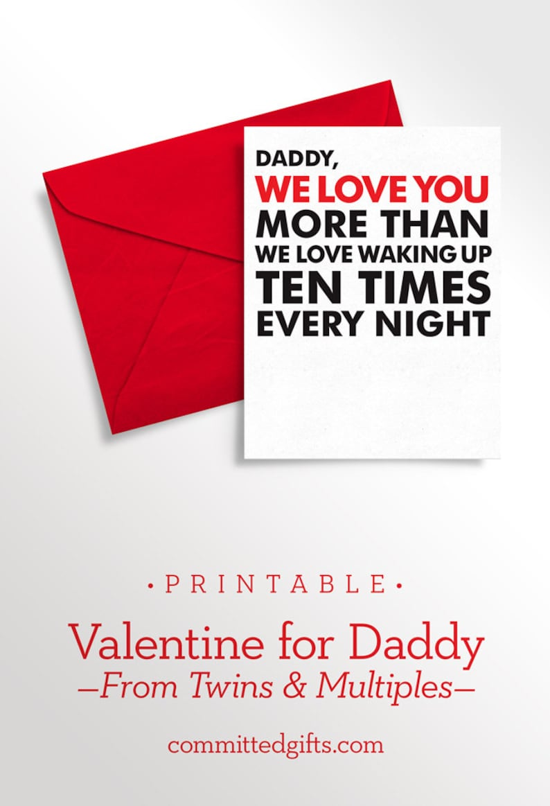 Printable Father's Day Card from Twins  Baby's First image 0