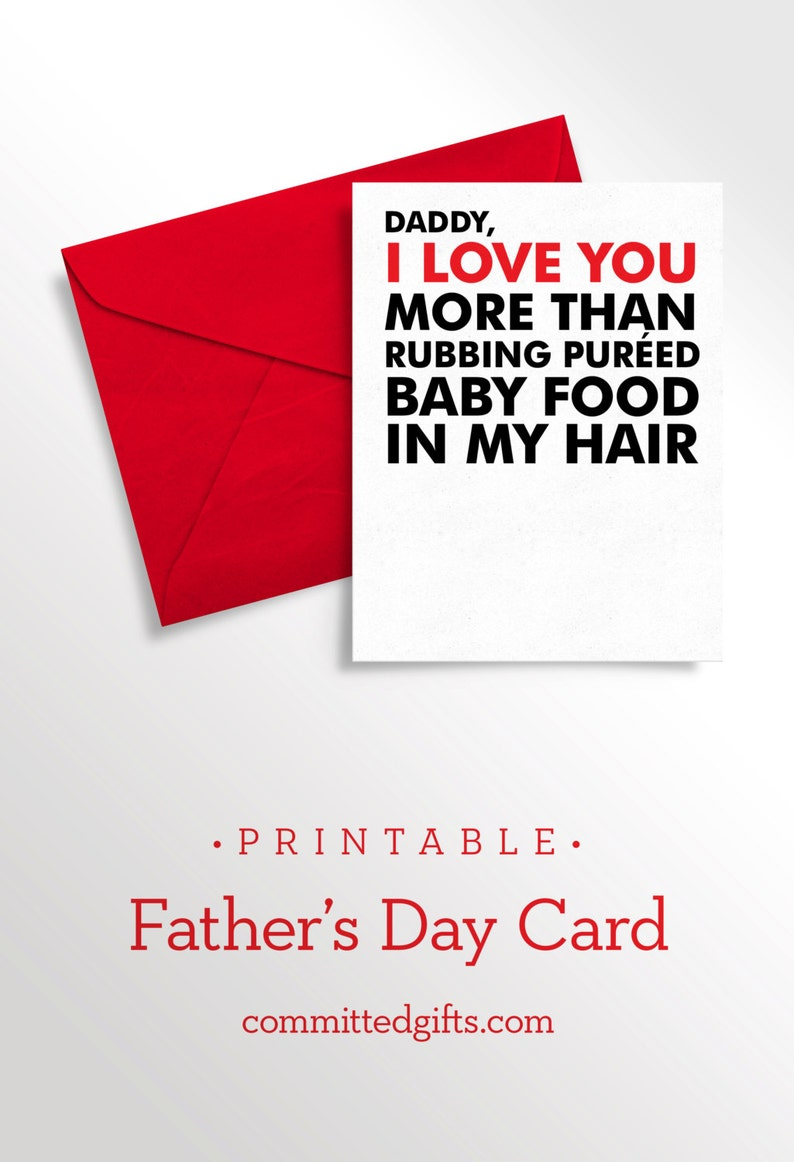Printable Fathers Day Card To Daddy From Baby Infant