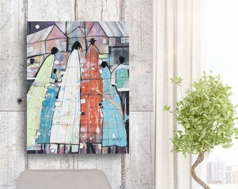 Family Tree, African American Art, Canvas Art, Canvas Wall Art,Home Decor Art, Canvas Painting,Abstract Art, Wall Art