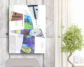 Love is Abstract 2, African American Art, Canvas Art, Canvas Wall Art,Home Decor Art, Canvas Painting,Abstract Art, Wall Art
