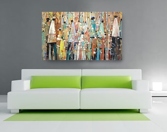Our Colorful People Canvas African American Art Wall ArtHome Decor PaintingAbstract