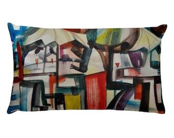 Decorative pillow cover, black art, african american art, black art, housewarming gift, pillow for couch, throw pillow 12x20, art