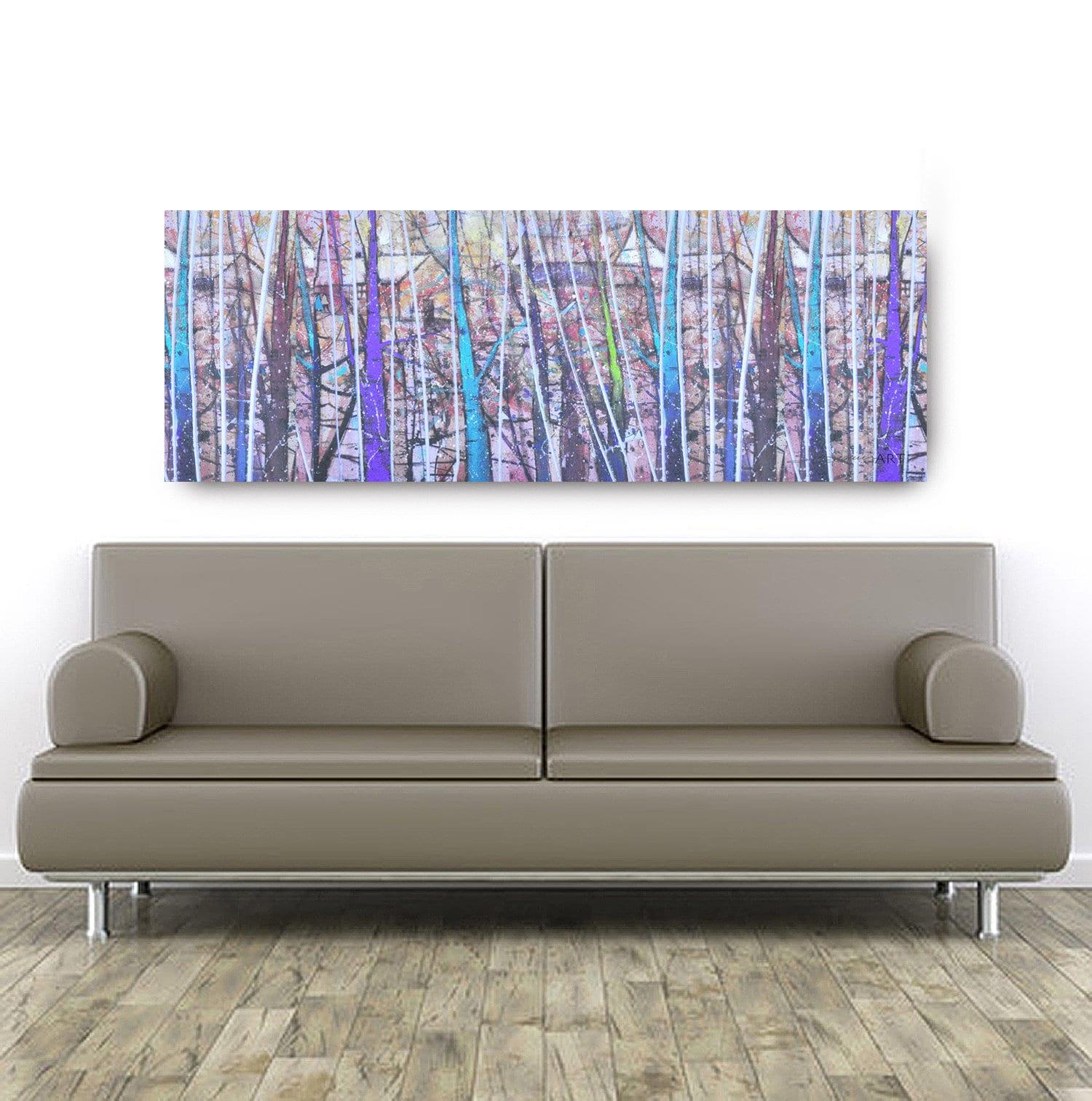 Purple birch oversize canvas african american art canvas art canvas wall arthome decor art canvas paintingabstract art wall art
