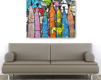 Family Tree Canvas, African American Art, Canvas Art, Canvas Wall Art,Home Decor Art, Canvas Painting,Abstract Art, Wall Art