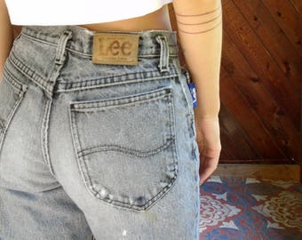 High Waisted Grey Mom Jeans - Vintage 90s - S/M
