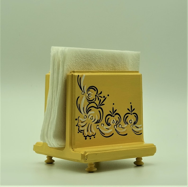 Hand Painted Small Napkin Holder Handcrafted