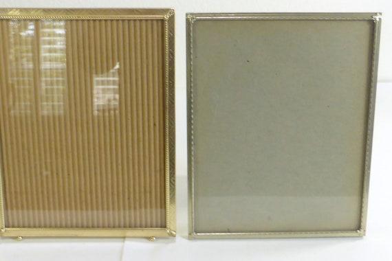 8 X 10 Vintage Goldtone Silvertone Picture Frames Set Of 2 Etsy