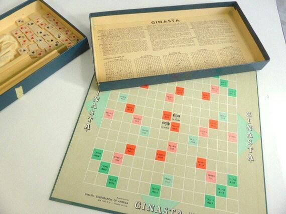 Vintage ginasta gioco da tavolo gin ramino canasta meld gioco etsy