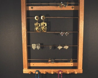 Medium Hanging Earring Holder Earring Display Earring Storage Earring Organizer for Clip-On Style Earrings