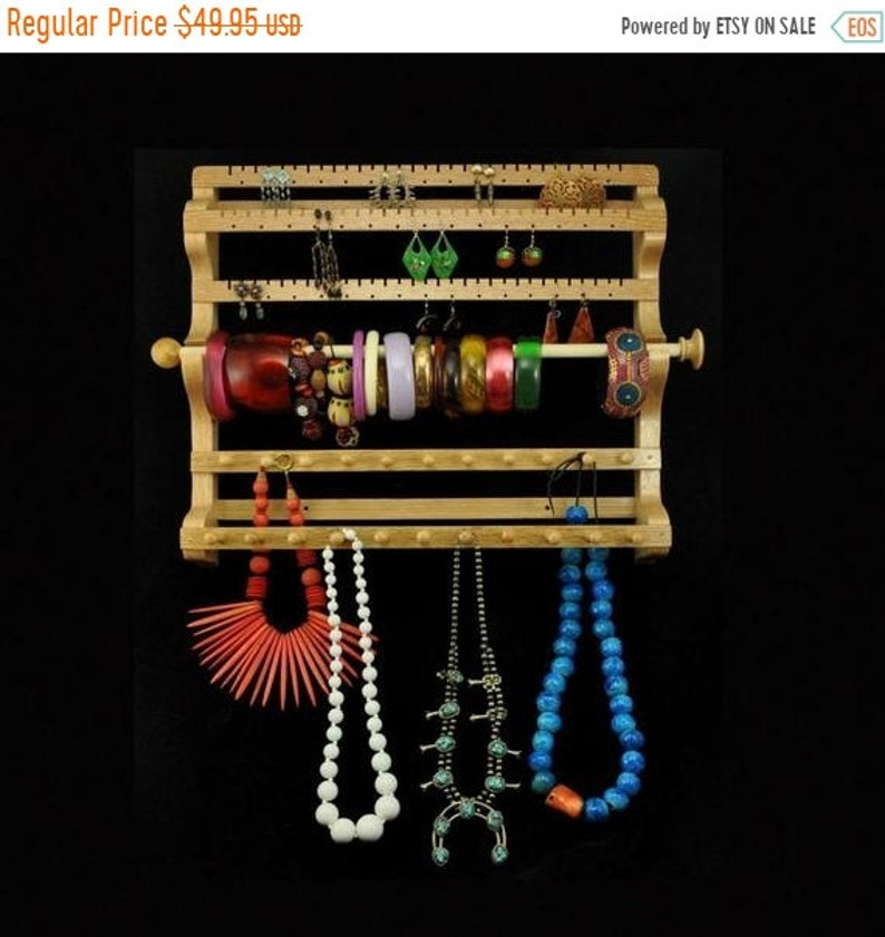ON SALE Hanging Combo Jewelry Holder Earring Necklace Bracelet image 0