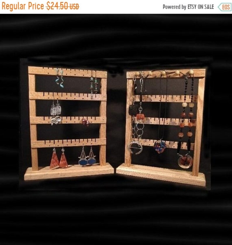 ON SALE Earring Jewelry Tree Holder Organizer Small Standing image 0