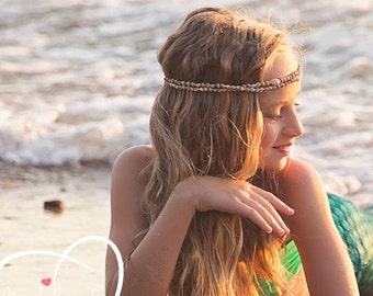 Mermaid Crown / seashell headband / flapper wedding Hawaiian ocean head piece / made to order