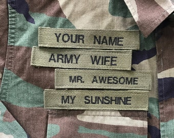 """Custom """"YOUR NAME"""" Embroidered PATCH Put Your Name On It"""