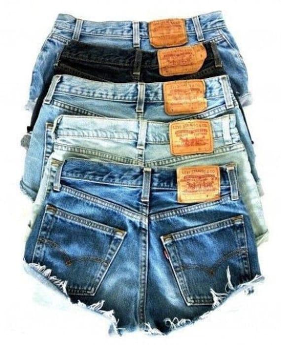 levi jean shorts on sale