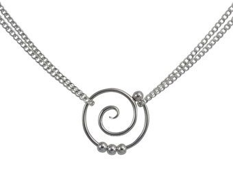 Dew Drop Tendril Spiral Necklace