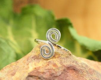 Sterling Silver Ring ~ Thumb Ring Sterling silver ~ Adjustable Simple Ring ~ Minimalist Bohemian Jewelry Silver ~ Boho Gift for Women