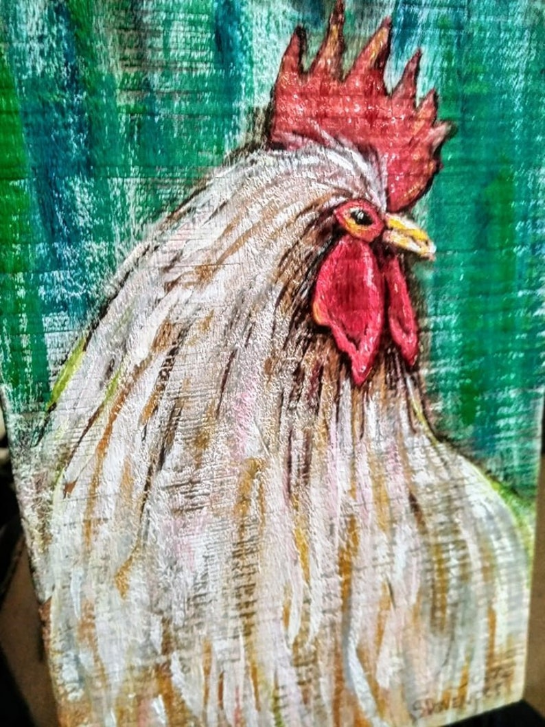 Décor De Cuisine Coq Coq Peinture Cuisine Coq Poulet Coop Etsy