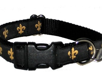 Fleur de Lis Medium Dog Collar | Martingale Collar | Quick Release Collar | Dog Leash | Dog Harness | Adjustable Dog Collar