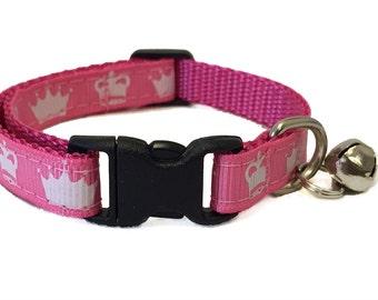 Princess Crown Cat Collar | Breakaway Cat Collar | Kitten Collar | Safety Collar | Adjustable Cat Collar | Fat Cat Collar